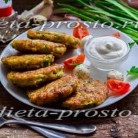 Очень вкусные овощные оладьи, которые можно есть на диете