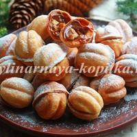 Печенье «Орешки» со сгущенкой - вкус из детства!