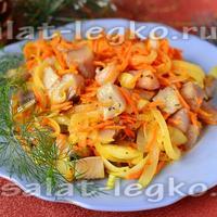 Очень вкусный салат всего из 3-ех ингредиентов!